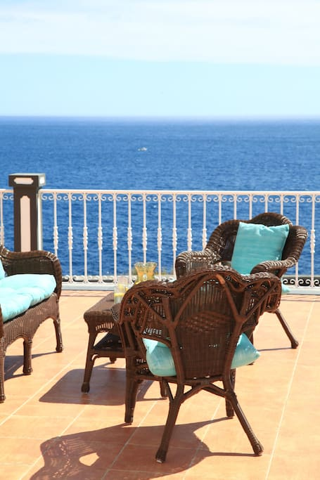 Upstairs veranda seating area w/breathtaking views of the Atlantic Ocean
