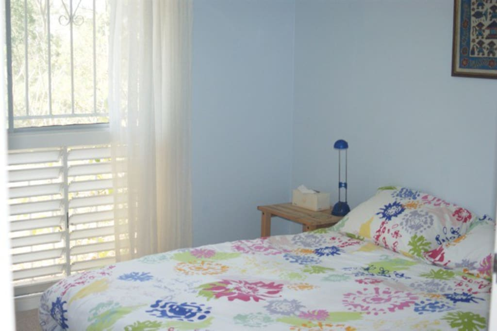 Room with double bed. Can also have single or twin beds.