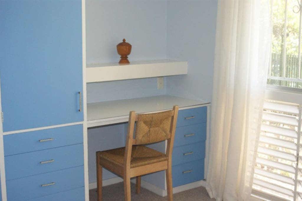 Desk/dressing table and wardrobe
