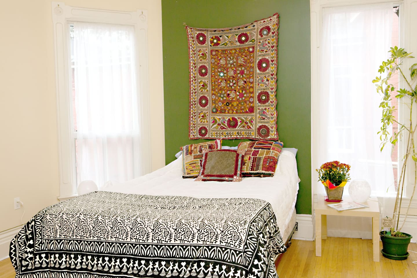 this is your bedroom. very light and airy