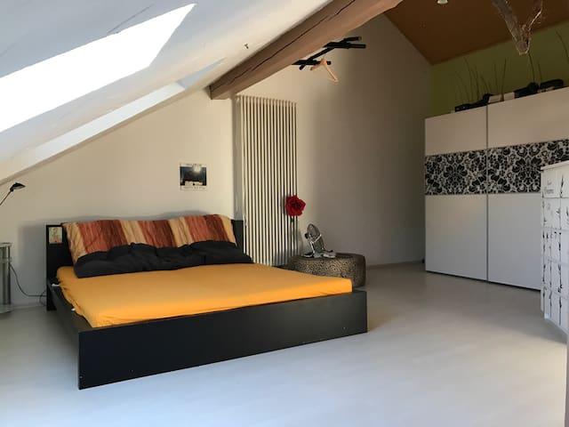 Dachgeschosswohnung nähe Flugplatz - Wallerfangen - Byt