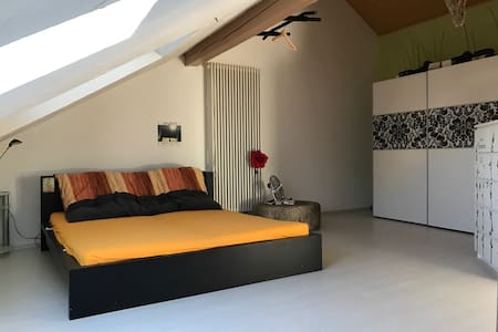 Dachgeschosswohnung nähe Flugplatz - Wallerfangen - Apartment