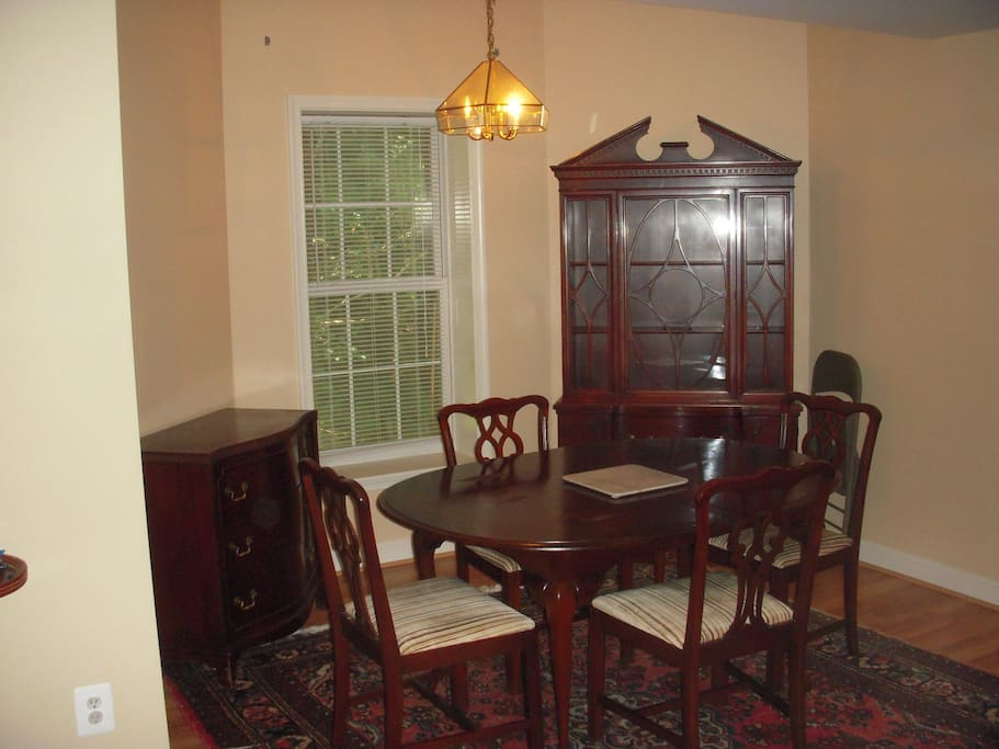 dining area with nice dining room set