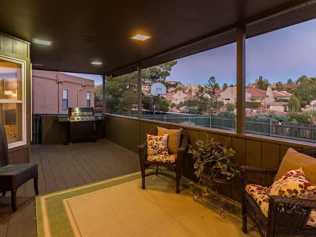 Enjoy a barbeque or simply sit outside to enjoy the amazing sunset