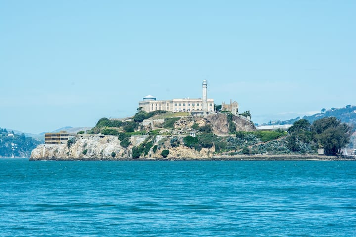 View of Alcatraz Island during the ride.