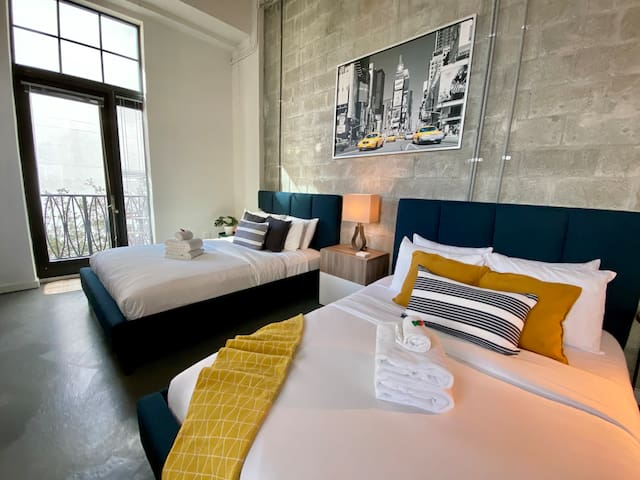 Loft style condo with two very comfortable queen beds