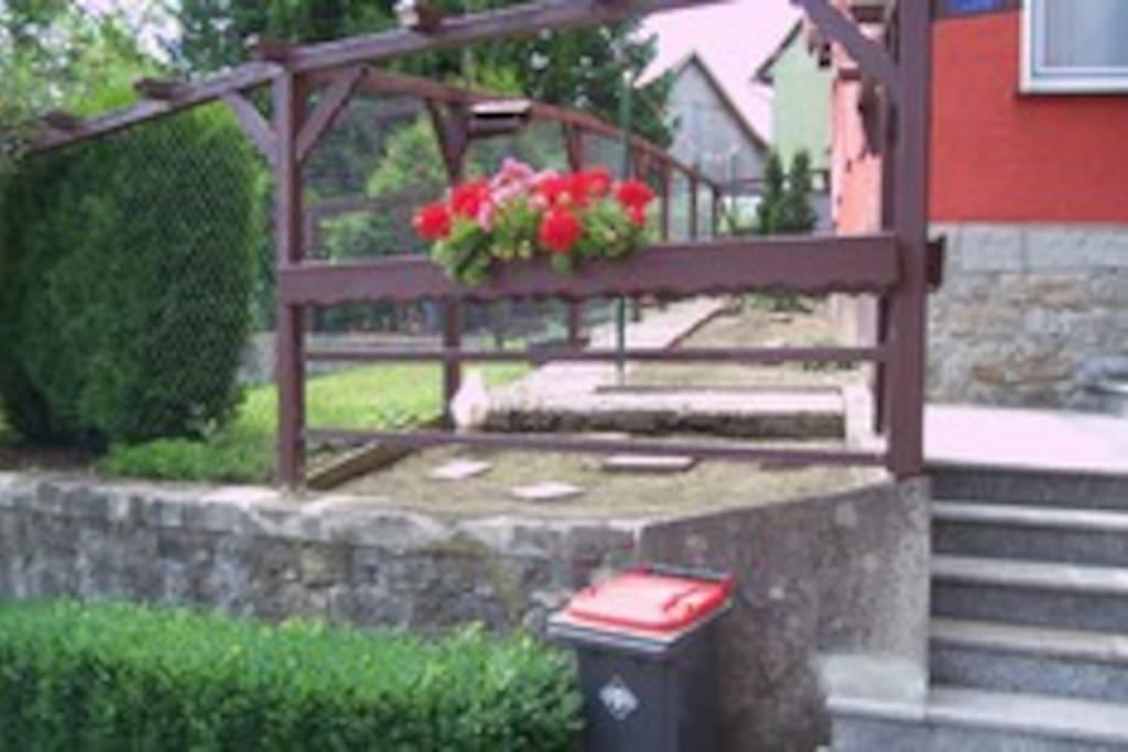 Eingang, Terrasse