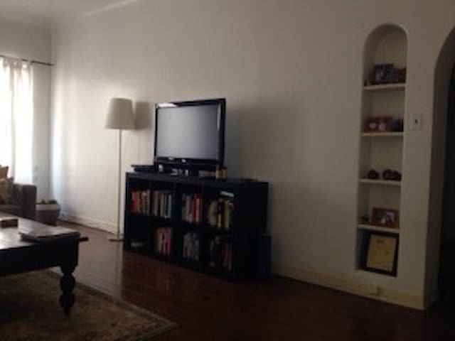 Another view of the living room, this time with the TV (we have direcTV and Sunday Ticket)