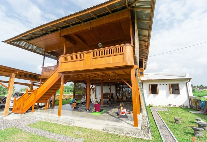 Wooden Tropical House with 180º Rice Paddies View