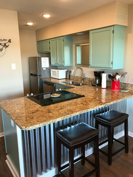 All new kitchen appliances, granite countertops, etc.