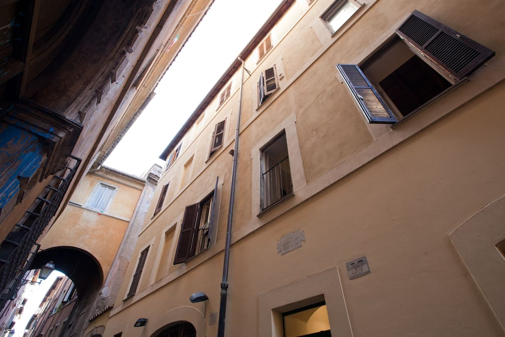 The road characteristic, which leads to the square Campo de Fiori.
