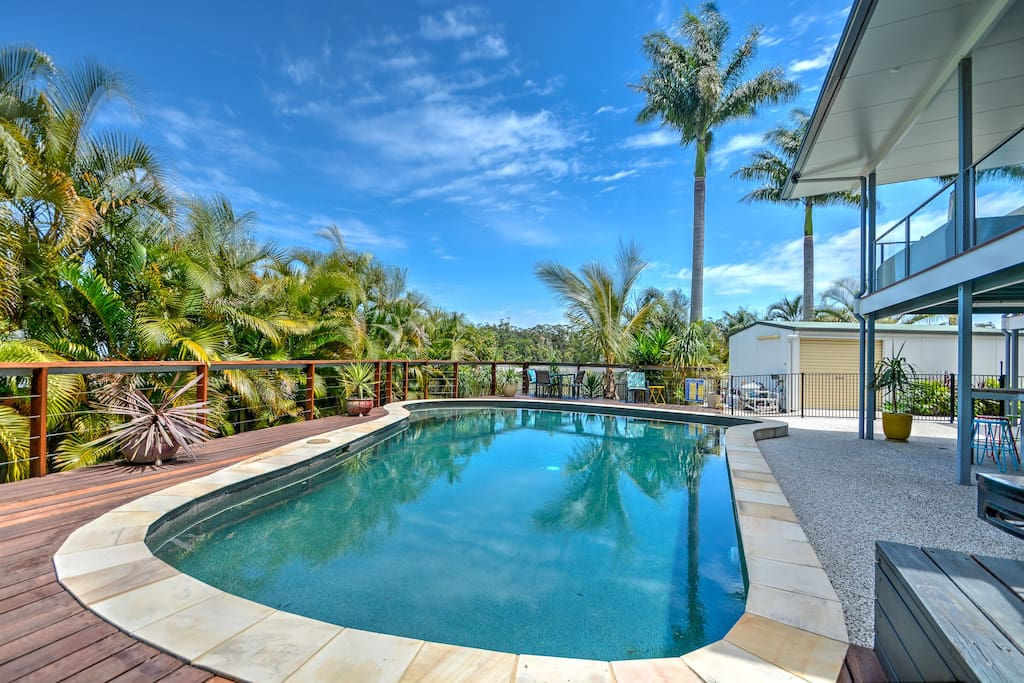 GENEROUSLY SIZED POOL WITH TIMBER DECK