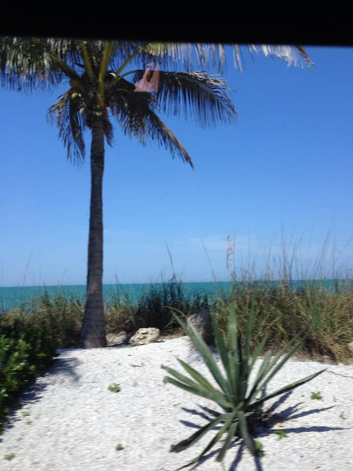 Beautiful Florida stilt house steps to the beach