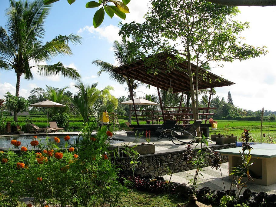 Rooms in resort near Ubud.
