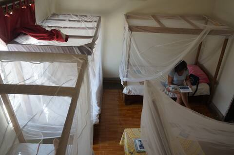 Masaka Backpackers dormitory bed with breakfast