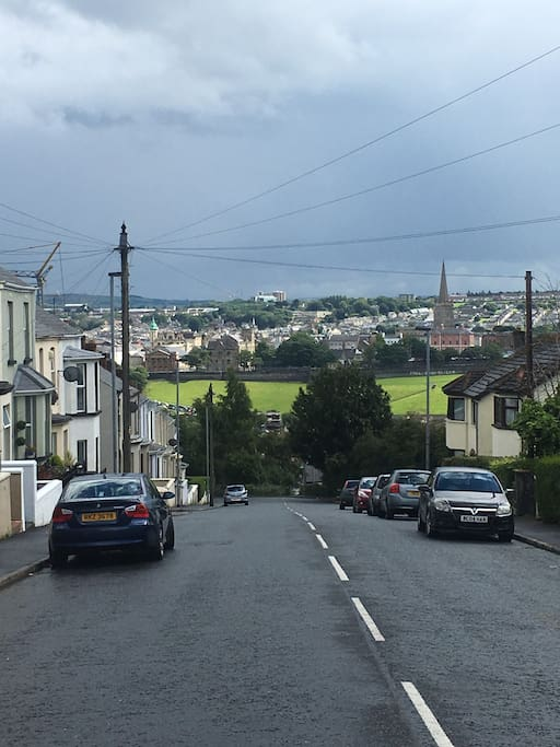 The view of Derry city from the front of the house