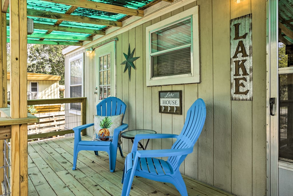 Relax on the front covered porch with your loved ones.