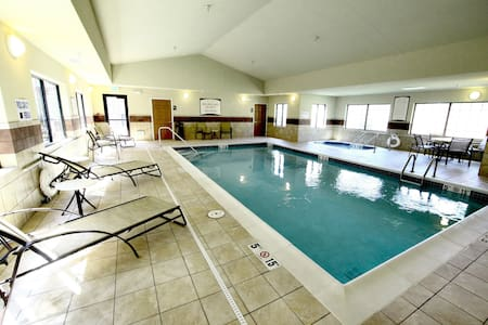 Free Breakfast. Pool & Hot Tub. Gym. Quick Drive to the Minot Air Force Base!