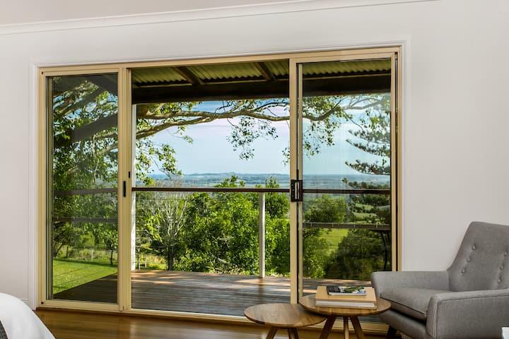 Ocean Views Private Studio Room 4 Peace Of Byron Casas De Huéspedes En Renta En Coopers Shoot Nueva Gales Del Sur Australia