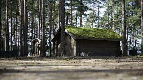 Lakeside eco-house