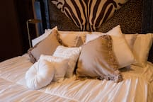 Safari room with plush King Bed