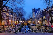 Canals in Amsterdam, only 30 min. by train