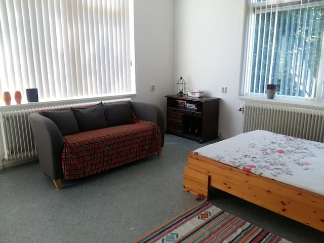 Spacious private room near Meppel central station