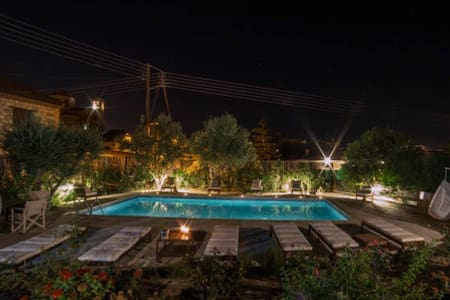 Meleni Cottage Houses Studio Swimming pool NearSea - Pareklisia - Huoneisto