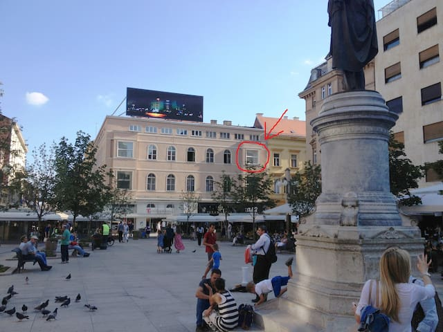 Exclusive view in central Zagreb