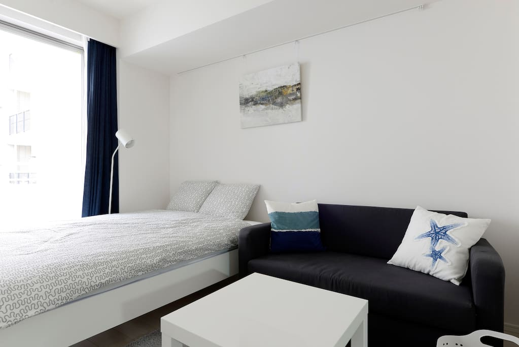 Double bed & Sofa bed