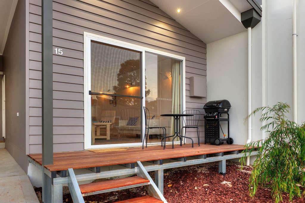 Front Patio/Deck Area