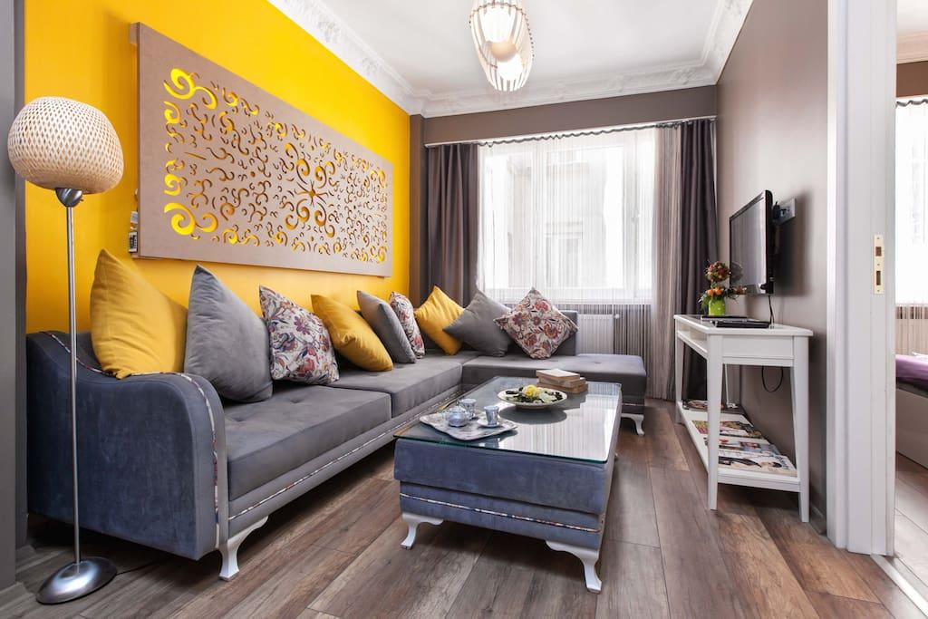 Comfortable Living Room Area