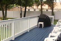 Your Back Deck with Gas Grille