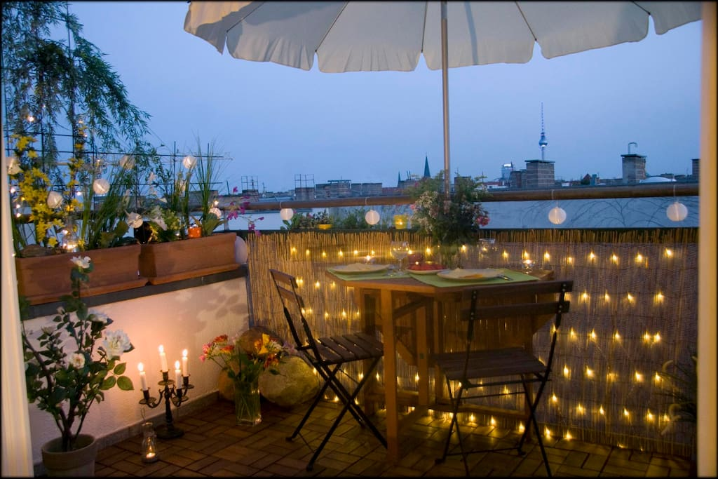 Abendstimmung Balkon / night atmosphere balcony