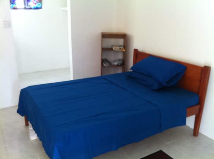 One bedroom ground floor apartment.