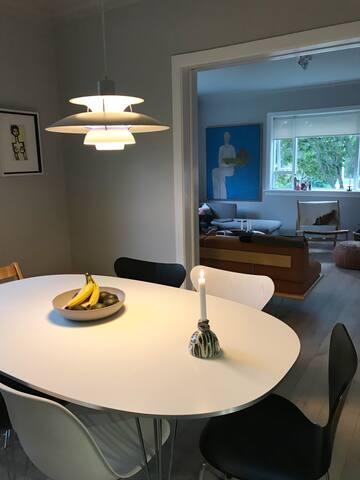 Modern apartment central in Reykjavik.