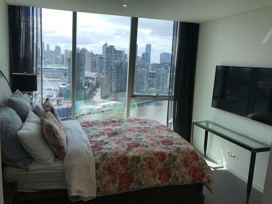 Master overlooks city