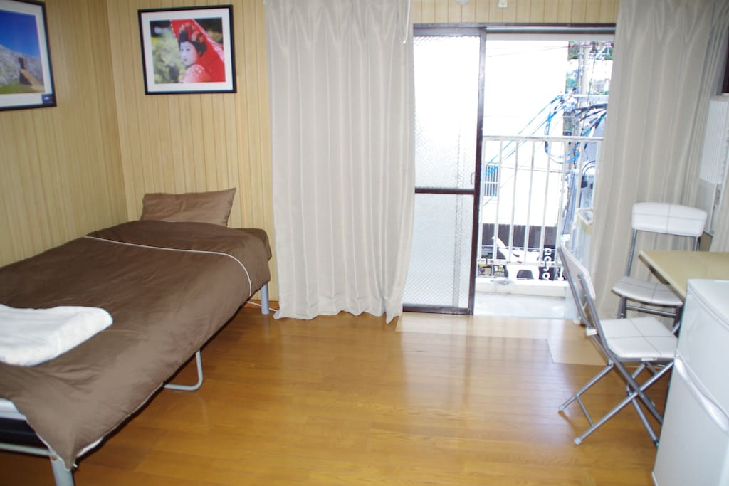 Western style bed in comfortable private apartment
