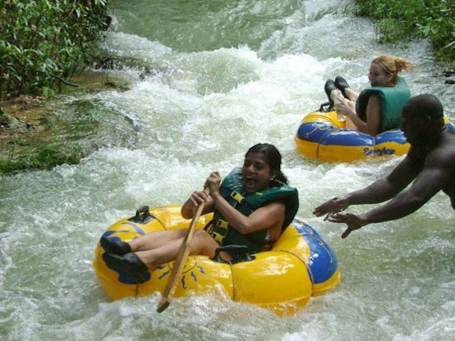 River tubing at White River Valley