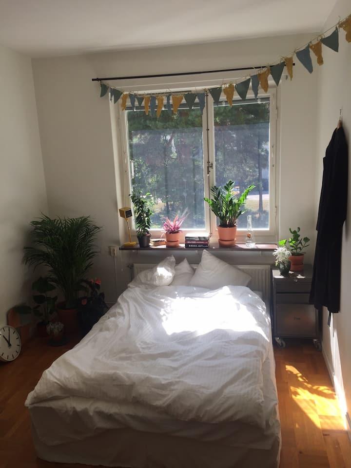 Mysig lägenhet 10 minuter till Södermalm