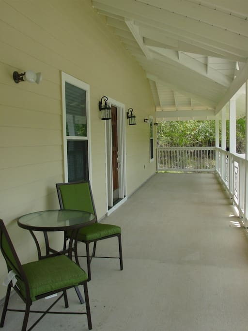 Southern plantation front covered porch
