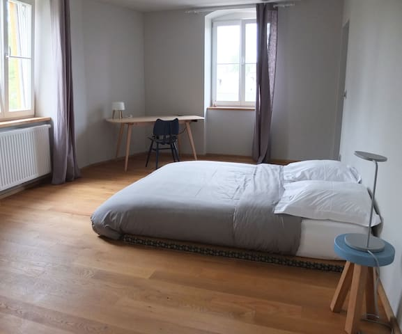 Bluebell room - the bed on Japanese tatami