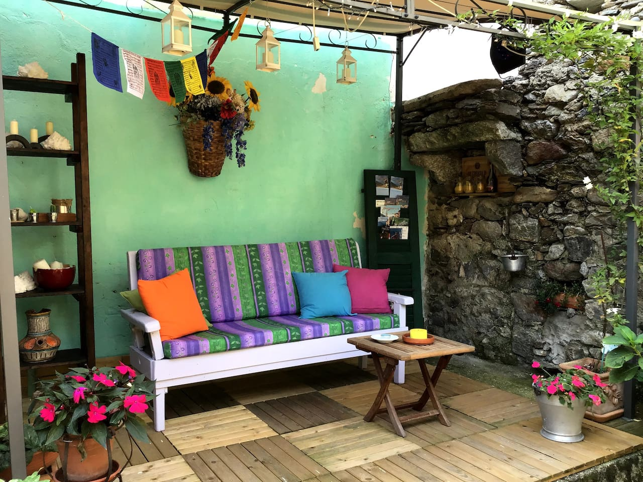 Zona relax - patio coperto