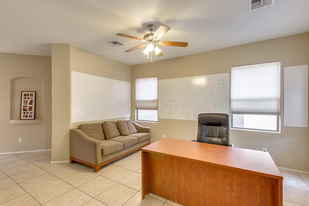 Front office with couch