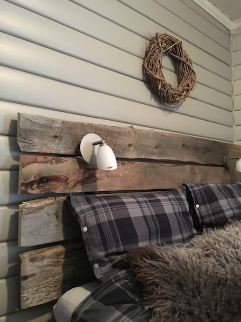 Indreroen utleie: Flott hytte ved Saltdalselva
