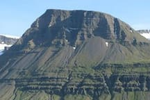 """The """"Hádegisfjall"""", taken from our house."""