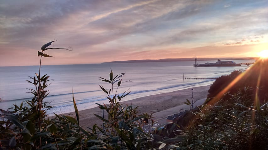 View from the Bournemouth Clifftop