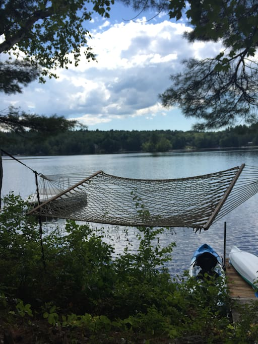 Relax in the Hammock on the water