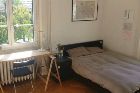 Chambre calme et lumineuse dans une colocation