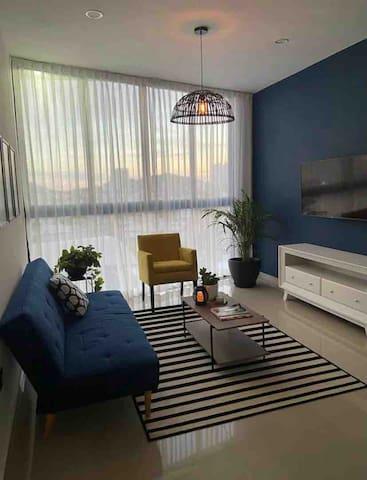 Sala de estar con Smart Tv